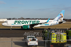 Frontier Airlines Airbus A320-214 - N230FR (AeroPX) Tags: aeropx airbusa320 bettythebluebird caryliao ewing frontierairlines kttn n230fr nj newjersey ttn trentonmercercountyairport