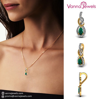 Vannjewels_Collection_Emerald_Gemstone_Designer_Pendant_Chain_Necklace_SGL_Certified_Diamond_Pave_Fine_Jewelry_Set_in_18k_Solid_Yellow_Gold