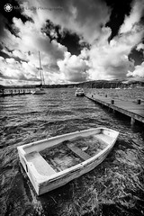 Abandoned - Waterhead, Ambleside, North West England (Silent Eagle  Photography) Tags: sep silent eagle photography silenteaglephotography canon canoneos5dmarkiii water abandoned mini boat flood sky clouds bw monochrome wood outdoor silenteagle09