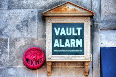 Vintage Bank Vault Alarm (J.L. Ramsaur Photography) Tags: jlrphotography nikond7200 nikon d7200 photography photo jacksontn westtennessee madisoncounty tennessee 2016 engineerswithcameras thehubcity photographyforgod thesouth southernphotography screamofthephotographer ibeauty jlramsaurphotography photograph pic tennesseephotographer downtownjacksontn bankvaultalarm vintagebankvaultalarm retrobankvaultalarm vaultalarm bankerselectricprotectiveassociation bankerselectricprotectiveassociationbostonnewyork vikingsprinkleralarm sprinkleralarm viking tennesseehdr hdr worldhdr hdraddicted bracketed photomatix hdrphotomatix hdrvillage hdrworlds hdrimaging hdrrighthererightnow retro classic antique vintage historyisallaroundus americanrelics beautifuldecay fadingamerica it'saretroworldafterall abandoned abandonedplacesandthings abandonedneglectedweatheredorrusty rust rusty weathered old wondersofoxidation rustystuff