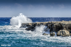 Rough (mary~lou) Tags: wave roughseas cyprus ruggedcoastline bigwave volcanicrock sea mediterranean coast coastal rocky rocks crashingwave maryfletcher 15challengeswinner