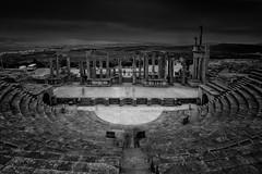 Amphithéâtre (Ben Gharbia Mehdi) Tags: black white architecture architectura grand angle nikon 1835 cptunis tunisia tunis dogga