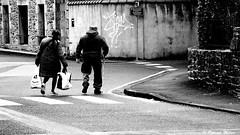 Hard life (patrick_milan) Tags: noiretblanc blackandwhite noir blanc monochrome nb bw black white street rue people personne gens streetview féminin femal femme woman women girl fille belle beautiful candide