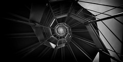 Spiral staircase (Christian Ferrari) Tags: spiral staircase bw blackandwhite light pointofview genoa iso architecture