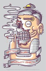 You burn yourself (anggatantama) Tags: toxic illustration graphicdesign healthy vectorart smoke tshirt illustrator nosmoking commission tee tshirtdesign vector adobeillustrator keepyourhealth anggatantama tantama