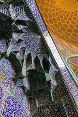 Muqarnas of Sheikh Lotfollah mosque, Isfahan (Moon Flower MM) Tags: travel art architecture tile photo iran interior decoration persia mosque silkroad  esfahan islamic isfahan worldheritage  arabesque muqarnas   sheikhlotfollah