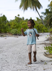 Chistmas Island - Girl playing with a stick