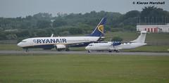 EI-ENT and LY-MCA, Dublin, 19/6/14 (hurricanemk2c) Tags: dublin plane flying aviation planes boeing ryanair 737 2014 737800 atr72 atr72200 7378as danuorotransportas 737800w atr72201 stobartair 7378asw eient lymca