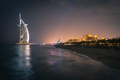 Dubai - Burj Al Arab by night (Thomas G. from U.) Tags: hotel asia asien dubai burjalarab unitedarabemirates jumeirah gastronomie gastronomy jumeirahbeach  arabianpeninsula soukmadinatjumeirah towerofthearabs  daralmasyafhotel