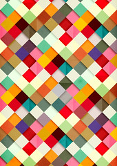 Pass This On (dnyivn) Tags: geometric illustration artwork pattern squares shapes surface colourful