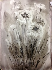 2014-06-18 16.47.31 (DrBobUK) Tags: ink indianink cornflowers weeklymixedmedia 20140617