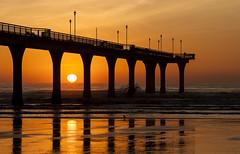 20140624_1429_1D3-110 Another Pier sunrise - 2 (johnstewartnz) Tags: sun sunrise canon eos 70200 newbrighton 70200mm newbrightonpier 1dmarkiii 1d3 1dmark3 wonderfulword unlimitedphotos silhouettephotography