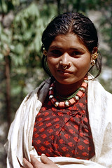 21-405 (ndpa / s. lundeen, archivist) Tags: nepal portrait people woman color film face rural 35mm necklace beads village 21 nick jewelry nosering earrings nepalese 1970s 1972 youngwoman himalayas villager nepali dewolf piercednose mountainvillage ruralvillage nickdewolf photographbynickdewolf ruralnepal reel21 hillyregion