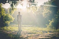 Quite the Morning Light (DavidCallMusic) Tags: musician tree nature sunrise austin outdoors artist texas greenbelt starburst atx