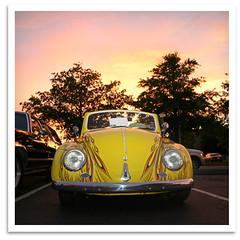 Yellow Bug (bogray) Tags: sunset classic car vw vintage bug lexington ky beetle historic restored preserved cruisenight 2ndannual anpac