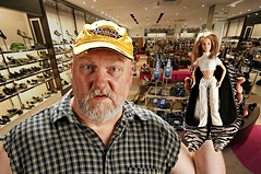 Big Earl hated shoe shopping with the Little Woman. (Studio d'Xavier) Tags: shoes 365 bigandsmall littlewoman 365days explored strobist werehere 185365 july52014