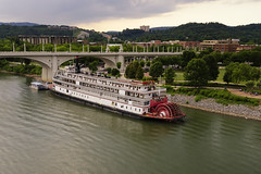Tennessee River Boat (rschnaible) Tags: park old usa history chattanooga wheel river boat us day tn cloudy tennessee south sightseeing paddle delta coolidge tourist historic queen southern transportation riverfront circa steamer attraction 1927