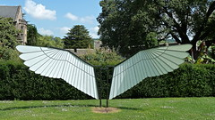 Wings (richwall100 - Thank you for Two Million views) Tags: uk art metal wings modernart wells somerset bishopspalace