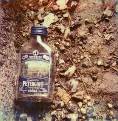 Vodka (daveknapik) Tags: nyc newyorkcity film brooklyn polaroid bottle bottles ground instant vodka polaroidslr680 impossibleproject
