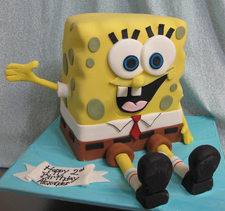 Spongebob cake med