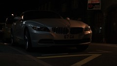 BMW Z4 (amoyroud) Tags: car night lights market parking bmw z4 supercar 2014 harborough