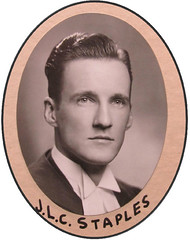 Photograph of Joseph Lexis Staples (1920-1988) (Law Society of Upper Canada Archives) Tags: portrait 1948 graduate lawyer osgoodehalllawschool
