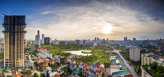 Untitled_Panorama197s (Hanoi's Panorama & Skyline Gallery) Tags: park street sunset sky panorama lake skyline architecture skyscraper canon asian asia capital skylines landmark vietnam hanoi asean appartment lotte vitnam hni skyscrapercity caoc keangnamlandmark