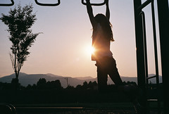(JasonCameron) Tags: film playground kids fun evening utah play dusk olympus om1