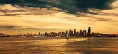 Seattle Skyline (John A. McCrae) Tags: seattle usa skyline washington unitedstates explore westseattle 1224mm elliotbay watertaxi 200favorites pentaxk5