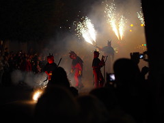 Las Fallas 2014, Valencia, Spain (ChihPing) Tags: travel people valencia festival night fire spain olympus parade procession  lasfallas omd falla fallas     em5