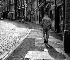 England (varjakpaul) Tags: street york shadow england urban monochrome blackwhite stock cobbles stockphotograph
