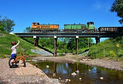 Shades of Orange (Missabe Road) Tags: gus bnsf sw1500 3411 3701 mp15