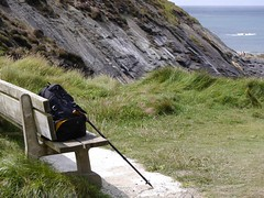 Bench with a view (MaggsMep (gone mobile - living the dream)) Tags: sea cliff bench rocks cornwall granite camerabag micro43 benchmondays panasoniclumixg6 maggsmep