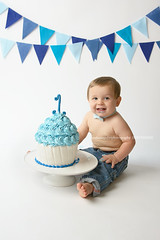 Cole (njmommyof3boys) Tags: birthday blue boy baby cake one flag banner flags jeans cupcake happybirthday firstbirthday oneyearold whie