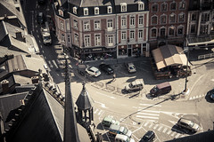 A Small World (Gilderic Photography) Tags: life road street city houses people urban cars canon eos belgium belgique belgie aerial route ville dinant 500d cytiscape gilderic