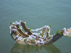 Yemaja Floating Sculpture (frigus.sanguinem) Tags: wood flowers sculpture art shell floating mixmedia yemanja yemaja
