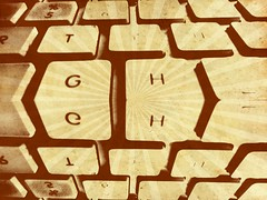 Face to face (Afgil (please see profile)) Tags: keys keyboard buttons grunge facetoface