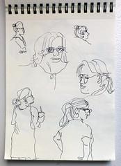 mommies and nannies (maartje jaquet) Tags: nyc sketch drawing centralpark sketchbook tekening schets schetsboek heckscherplayground
