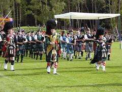 Mass pipe bands, Nethybridge Highland Games, 2014 (laura.piepad) Tags: drums scotland highlands kilt pipes band tartan highlandgames bagpipe nethybridge pipeband cairngormnationalpark
