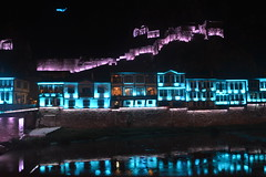 Amasya (hakan116) Tags: reflection castle night buildings turkey river lights nikon oldtown amasya d3200