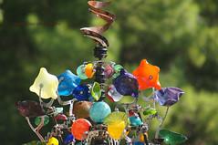 Wind catcher ... (mariola aga) Tags: glass closeup illinois colorful bokeh balls 75300mm bowls mechanism utica windcatcher starvedrockstatepark thegalaxy artisticsculpture