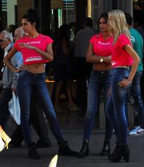Pinko Girls (Paulix Black) Tags: girls sexy beauty fashion glamour milano centro moda style jeans glam tight luxury italiana fashionable lusso canid