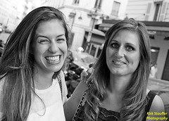 Paris Beauties (Kirk Stauffer) Tags: blue friends light red two portrait bw woman brown white black paris france cute girl beautiful smile smiling festival female hair grey ginger photo amazing eyes nikon women perfect europe long pretty sweet head gorgeous gray young adorable august redhead teen indie attractive stunning teenager freckles brunette lovely aug darling kirk petite fiery bff stauffer lovable 2014 d4 lighing kirkstauffer