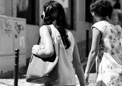 Candid Street Photography - (mgkm photography) Tags: street urban blackandwhite bw woman portugal monochrome 50mm calle nikon bokeh lisboa lisbon candid streetphotography gimp linux streetphoto rua nikkor pretoebranco blackandwhitephotography streetshot urbanphotography monochromephotography fotografiaurbana lisboanarua blackwhitephotos ptbw opensourcephotography ilustrarportugal d7000 europeanphotography streettogs bnwportugal