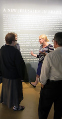 Post-discussion in the exhibition