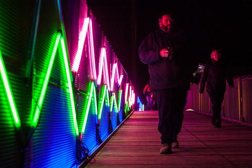 Walkers on the Bridge of Light
