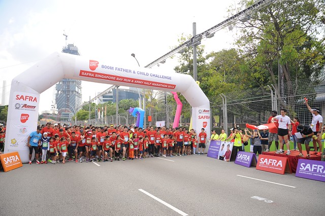 Flag-off for Families for Life 800m Father and Child Challenge by Second Minister for Defence and President of SAFRA, Mr Chan Chun Sing