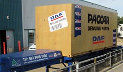 PACCAR DAF genuine parts container August 2014 (Bristol Viewfinder) Tags: horse mercedes box container shipping 325 stratos daf wrecker atkinson seddon actros paccar aabar