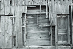 Two Doors and Something Else (marylea) Tags: wood barn chelsea decay michigan rustic ruraldecay 2014 may18