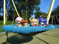 4 friends in the parc